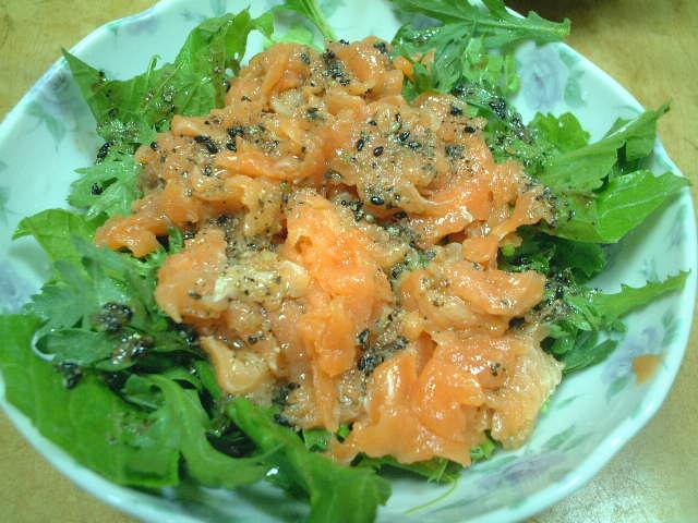 鮭のすきみサラダ