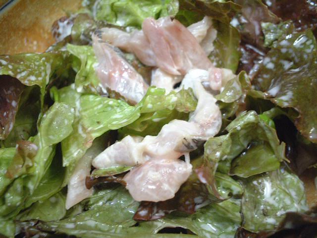 アジの刺身サラダ