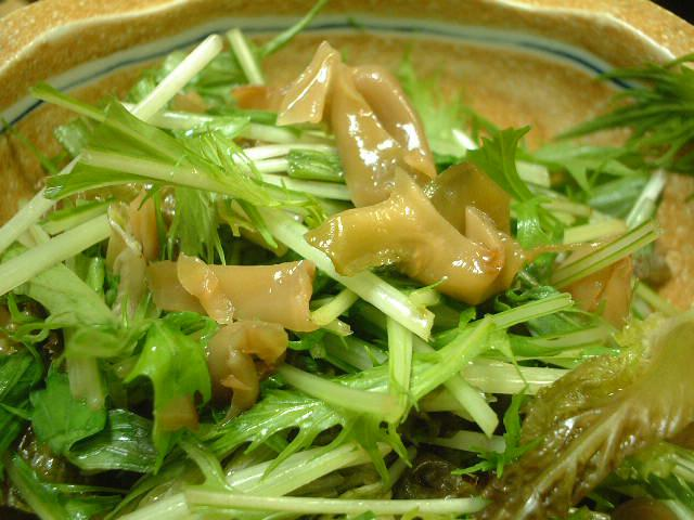 京菜とザーサイのサラダ