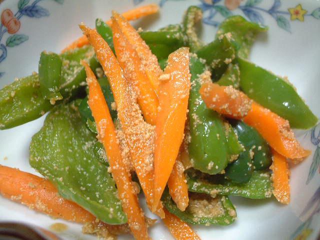 緑黄色野菜のたらこ炒め