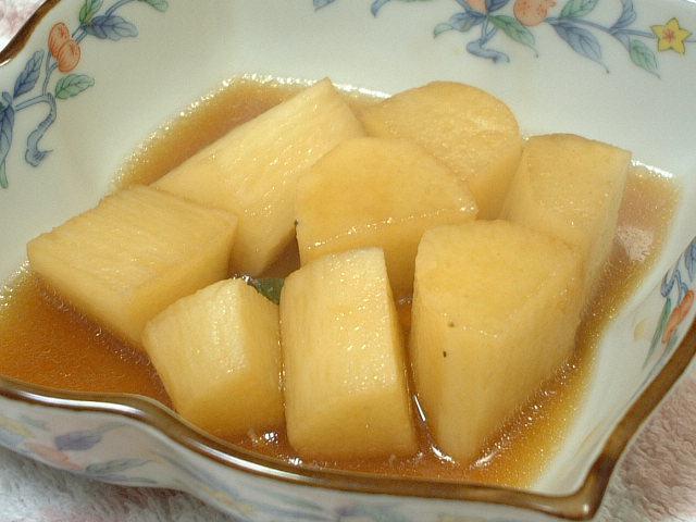 山芋のそばつゆ煮