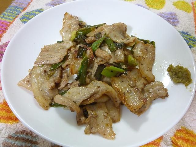 豚バラ肉のゆず胡椒焼き