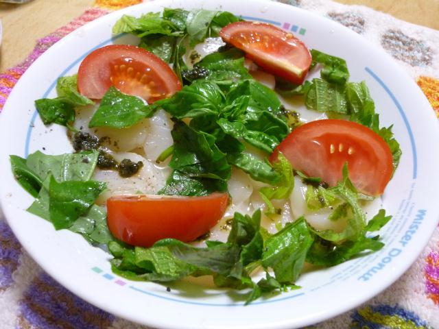 トマトとホタテのカルパッチョ