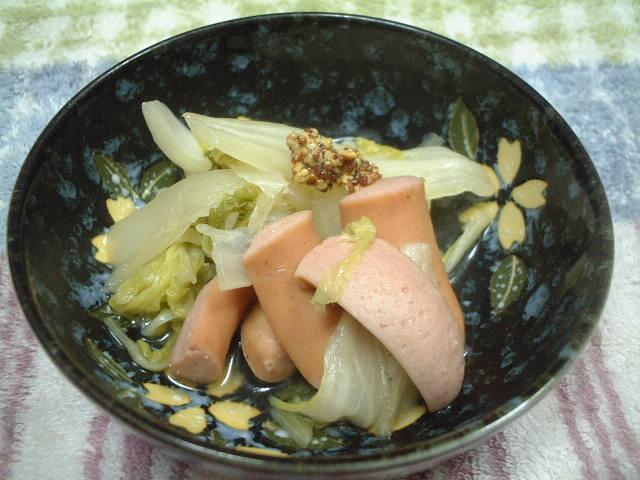 ウインナーと白菜の煮込み